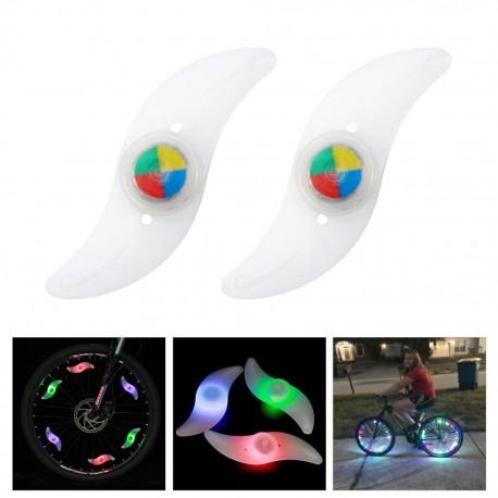 Lumière de roue de vélo imperméable à l'eau