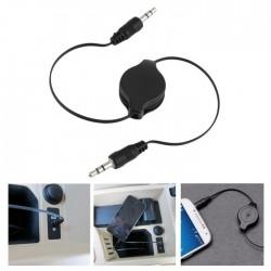 Câble audio rétractable mâle à mâle de 3,5 mm