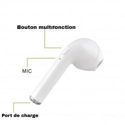Ecouteur intra-auriculaire sans fil bluetooth + edr 1 pour ios et android